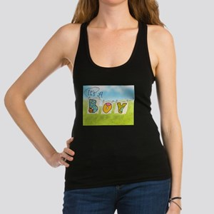 It's A Boy Quilts on Clothsline Racerback Tank Top