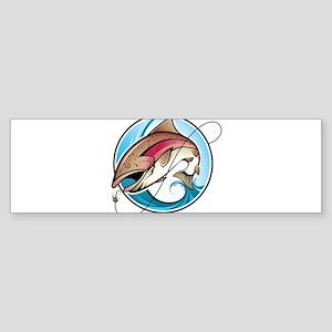 Cartoon fishing design Bumper Sticker