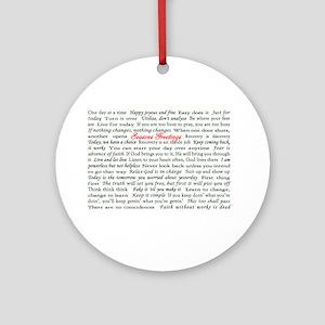 Season's Greetings Slogan Hol Ornament (Round)