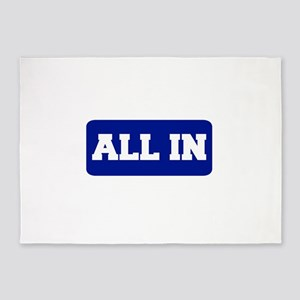 All In 5'x7'Area Rug