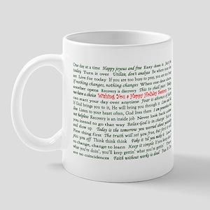 Happy Holiday's Slogan Christ Mug