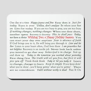 Happy Holiday's Slogan Christ Mousepad