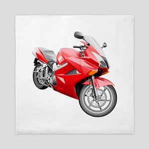 Red Heavy motorbike Queen Duvet