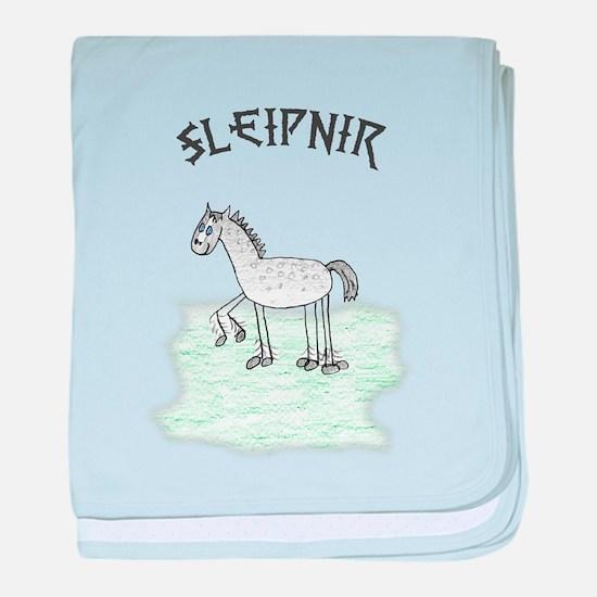 Funny Sleipnir baby blanket