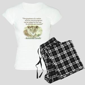 Gandhi Animal Quote ~ Women's Light Pajamas