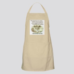 Gandhi Animal Quote ~ Apron