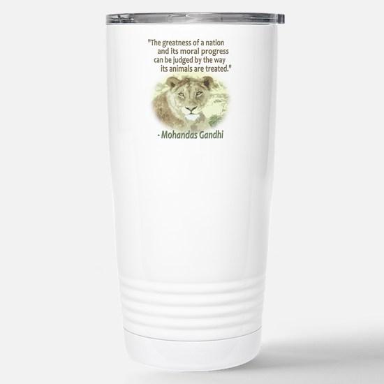 Gandhi Animal Quote ~ Stainless Steel Travel Mug