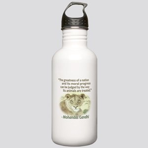 Gandhi Animal Quote ~ Stainless Water Bottle 1.0L