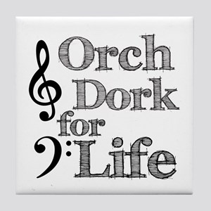 Orch Dork for Life Tile Coaster