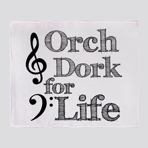 Orch Dork for Life Throw Blanket