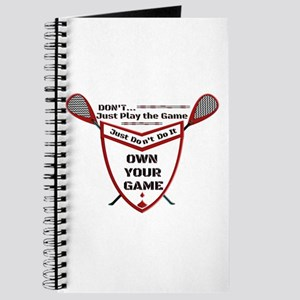 Own Your Game Lax Shield Journal