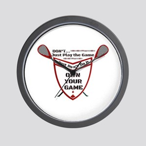 Own Your Game Lax Shield Wall Clock