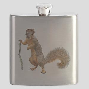 Squirrel Hat Stick Flask