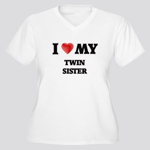I Love My Twin Sister Plus Size T-Shirt