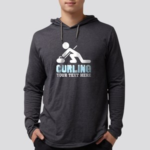 Curling Personalized Mens Hooded Shirt