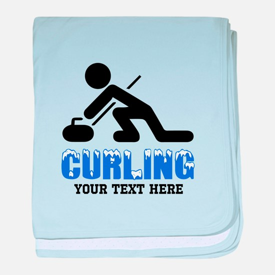 Curling Personalized baby blanket