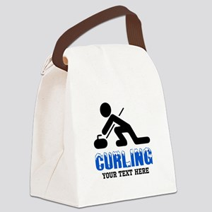Curling Personalized Canvas Lunch Bag