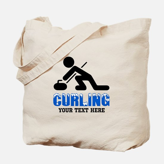 Curling Personalized Tote Bag