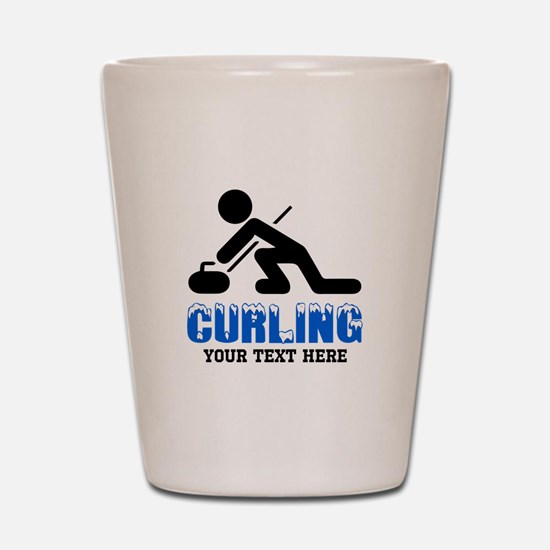 Curling Personalized Shot Glass