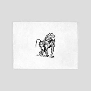 Baboon clip art 5'x7'Area Rug