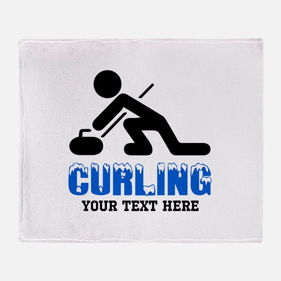 Curling Personalized Throw Blanket