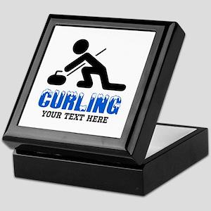 Curling Personalized Keepsake Box