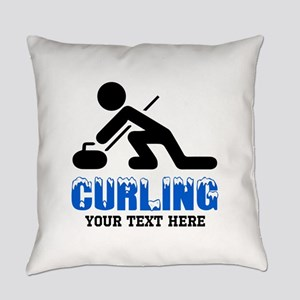 Curling Personalized Everyday Pillow