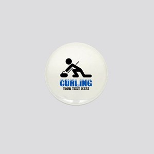 Curling Personalized Mini Button