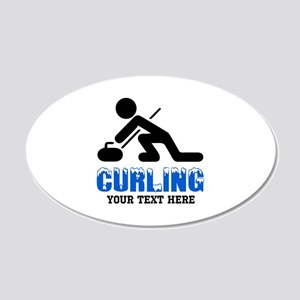 Curling Personalized 20x12 Oval Wall Decal