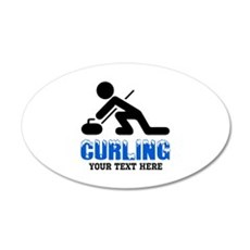 Curling Personalized Wall Decal