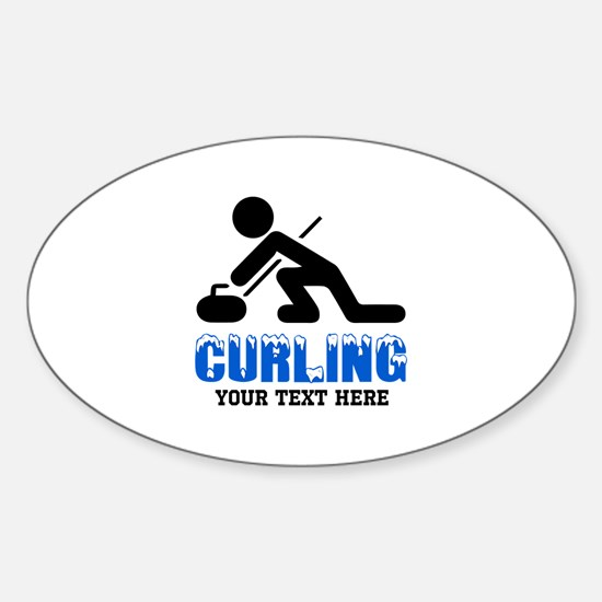 Curling Personalized Sticker (Oval)