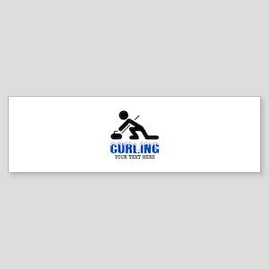 Curling Personalized Sticker (Bumper)