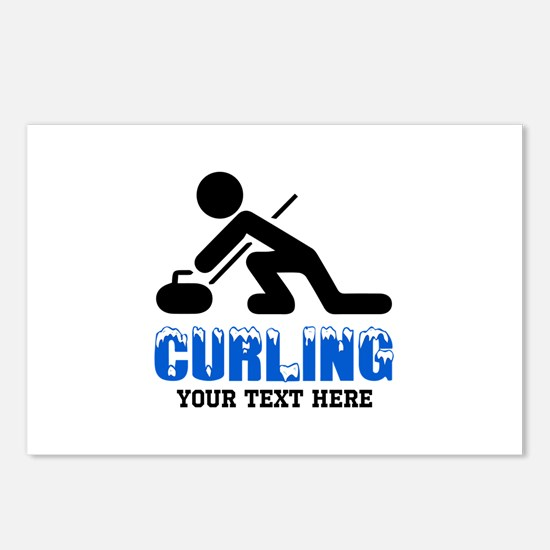 Curling Personalized Postcards (Package of 8)