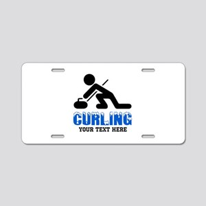 Curling Personalized Aluminum License Plate
