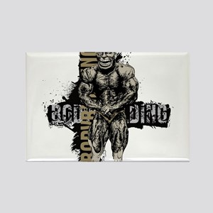 Bodybuilder pose art Magnets