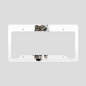 Bodybuilder pose art License Plate Holder