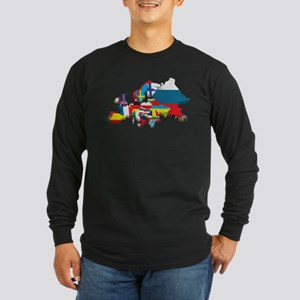Flags map of Europe Long Sleeve T-Shirt
