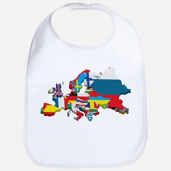 Flags map of Europe Bib