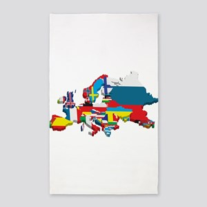 Flags map of Europe Area Rug
