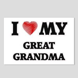 I Love My Great Grandma Postcards (Package of 8)