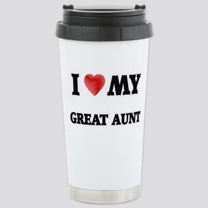 I Love My Great Aunt Stainless Steel Travel Mug