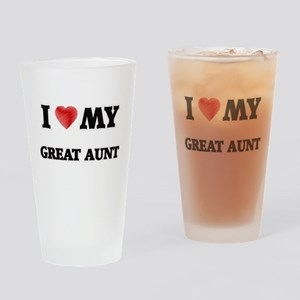 I Love My Great Aunt Drinking Glass