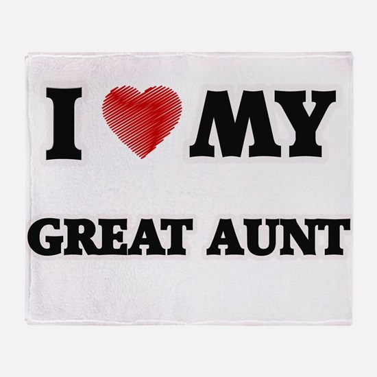 I Love My Great Aunt Throw Blanket