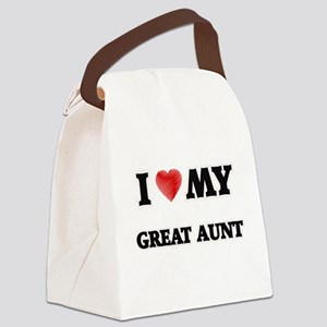 I Love My Great Aunt Canvas Lunch Bag