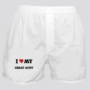 I Love My Great Aunt Boxer Shorts