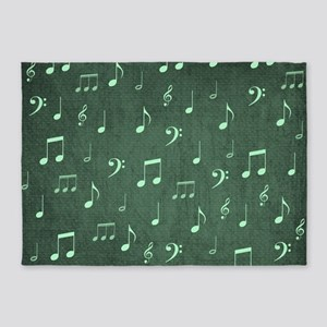 music notes and sign into a modern 5'x7'Area Rug