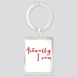 ACTUALLY I CAN Keychains