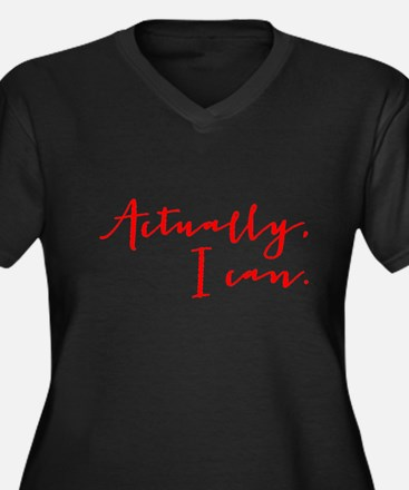 ACTUALLY I CAN Plus Size T-Shirt