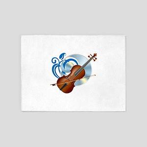 Fashion musical violin 5'x7'Area Rug