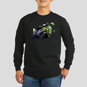 Motorcycle racer sliding Long Sleeve T-Shirt